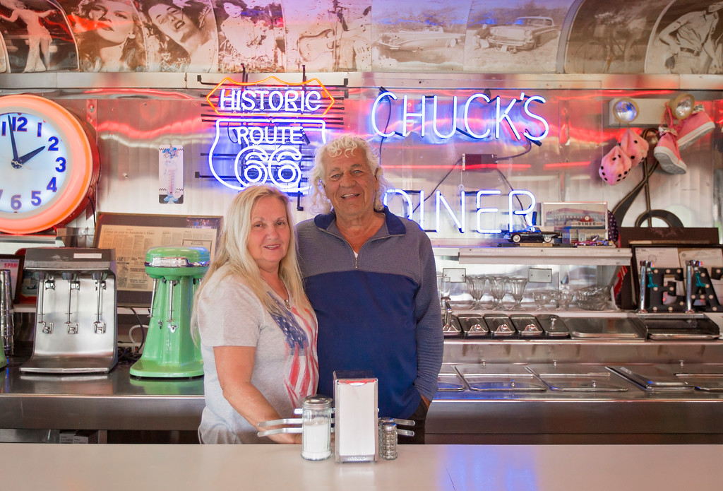 . Chuck and Pat Hamilton keep the \'50s alive at Annabelle\'s Diner on Twinbrook Road in Mentor. (Carrie Garland - The News-Herald)