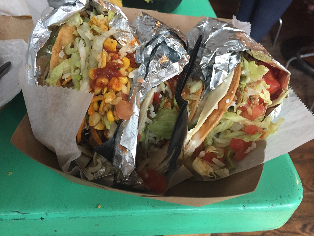 . Mark Meszoros -- The News-Herald Unless you have a huge appetite, four tacos at Barrio is probably at least one too many. Still, it\'s a delicious mistake.