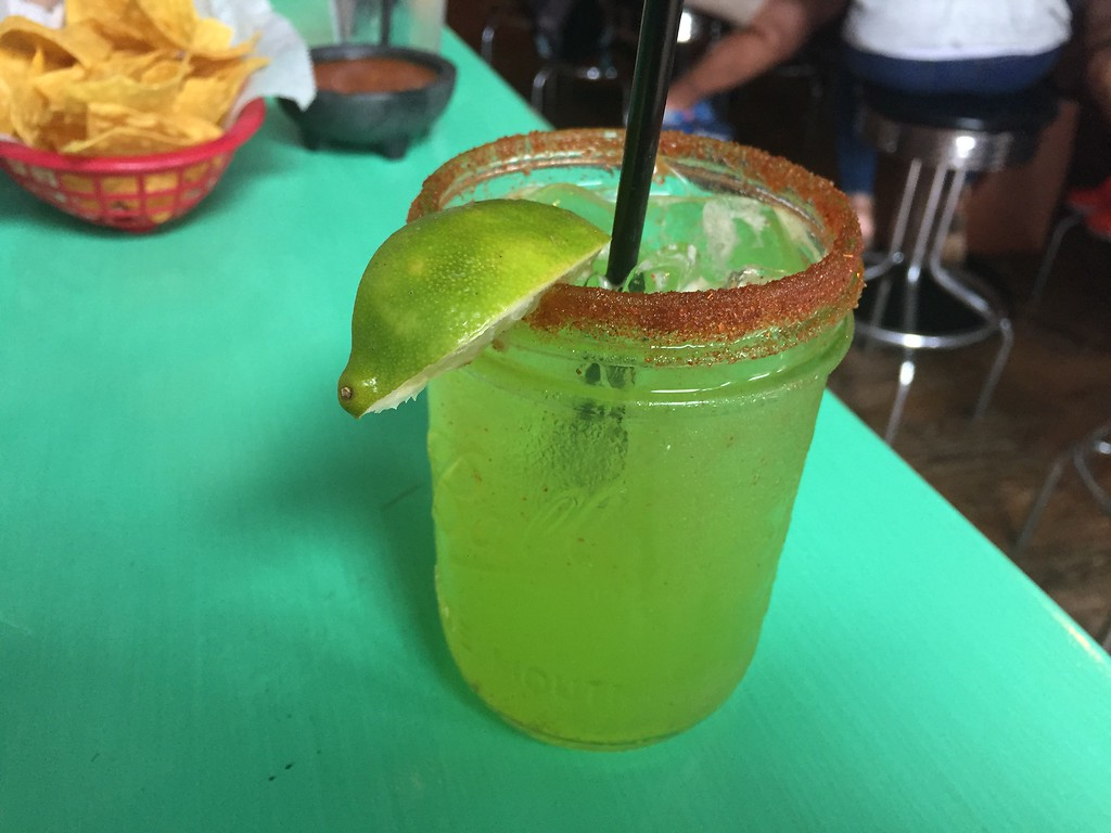 . Mark Meszoros -- The News-Herald The El Diablo margarita is sweet and spicy, the last part due in part to the cayanne pepper rim.