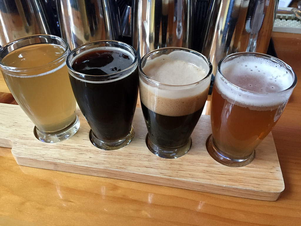 . Mark Meszoros -- The News-Herald A flight of beers is a great way to sample some of what Hansa Brewery makes.