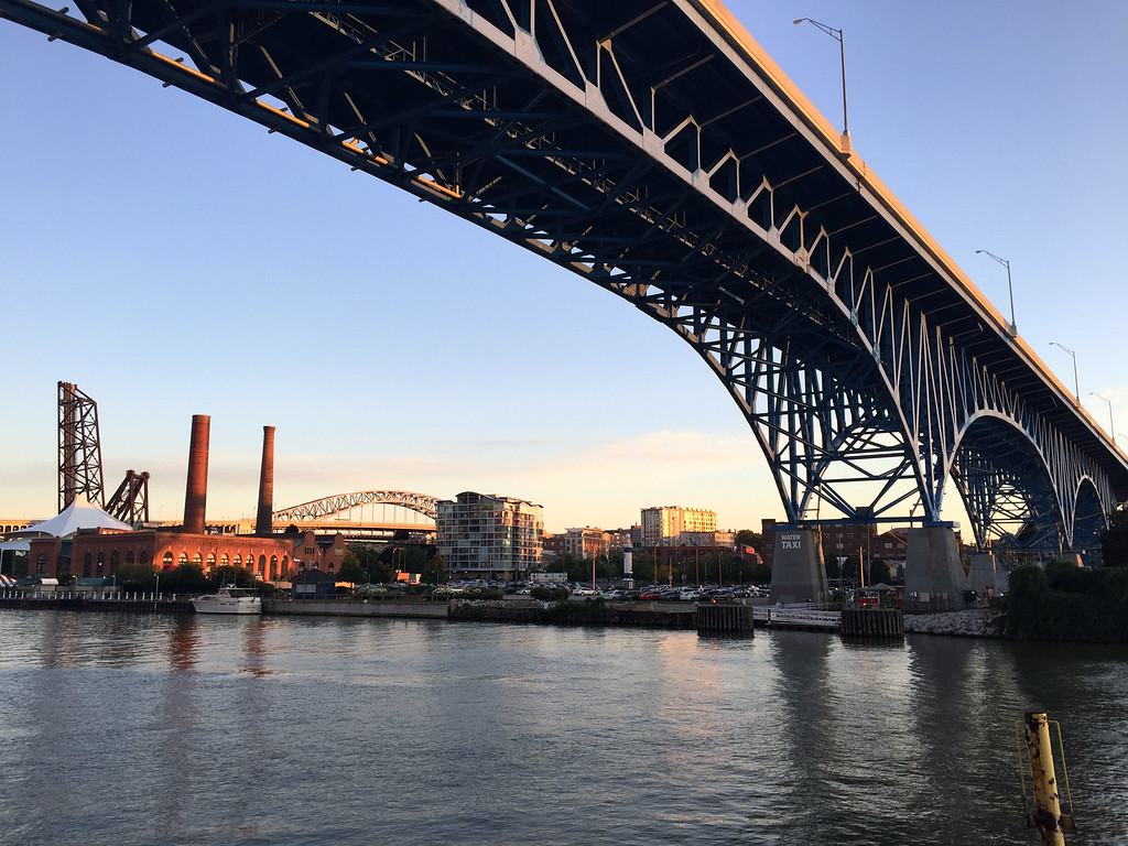 . Mark Meszoros -- The News-Herald The view across the river from Coastal Taco�s deck.