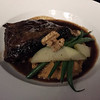 Mark Meszoros -- The News-Herald<br /> Sarita's Applejack Braised Short Ribs ($26) are served with mashed sweet potatoes, apples, haricot vert and walnuts.