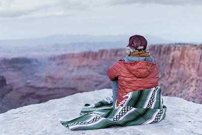 Exploring the Utah desert to espace the Colorado rain.