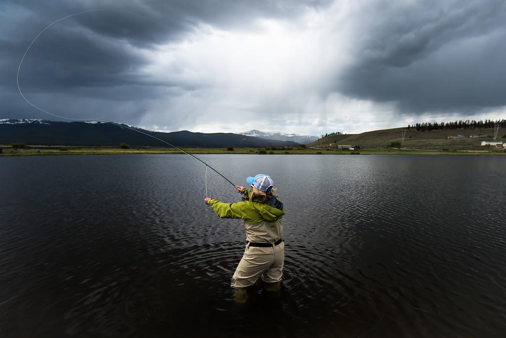 Fly Fishing outside of Salida, Colorado at Poncha Creek.