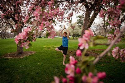 Outside Yoga Portrait