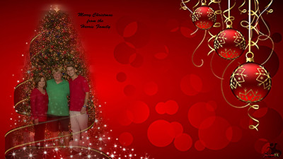 Christmas-Tree-And-Baubles-Wallpaper-In-Red-Background-