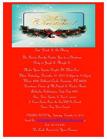 2015 Harris Family Christmas Party Invitation