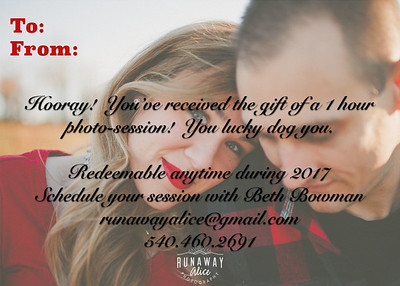 Holiday Gift Card 2017