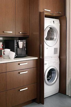 NYC Living: How We Installed a Washer Dryer In the Kitchen