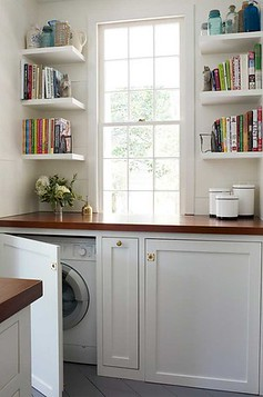 Lovely 4. Laundry In Kitchen Examples