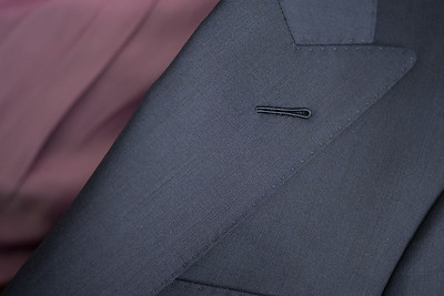Christopher Luk 2014 - Lifestyle Knot Standard Madison Navy Custom Made to Measure Suit Milanese Boutonniere 001