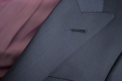 Christopher Luk 2014 - Lifestyle Knot Standard Madison Navy Custom Made to Measure Suit Milanese Boutonniere 001 Small