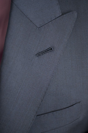 Christopher Luk 2014 - Lifestyle Knot Standard Madison Navy Custom Made to Measure Suit Milanese Boutonniere 002 Small