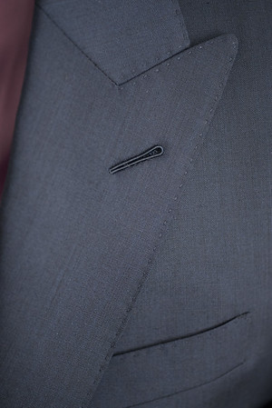 Christopher Luk 2014 - Lifestyle Knot Standard Madison Navy Custom Made to Measure Suit Milanese Boutonniere 002
