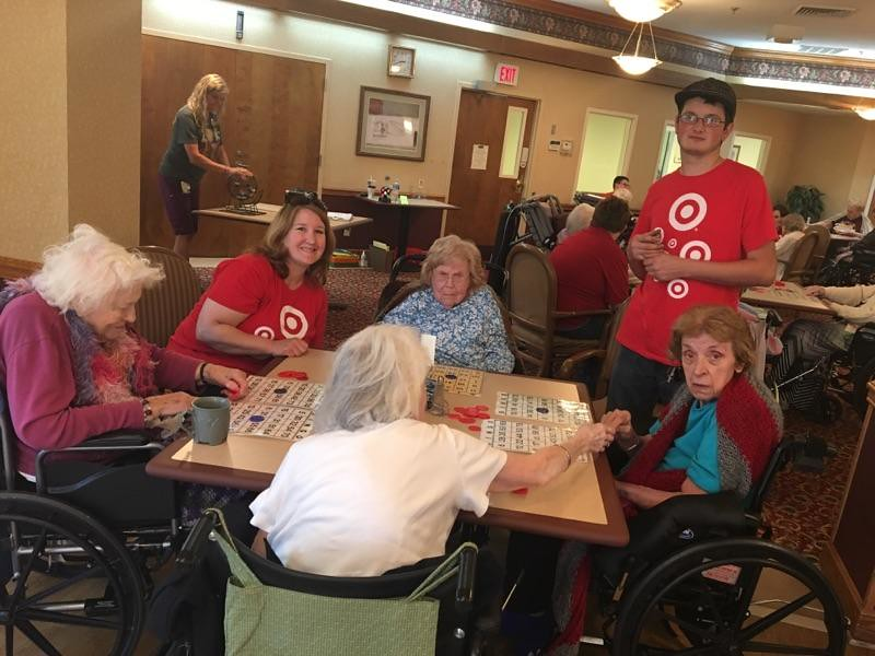 . Target volunteers at Breckenridge Village in Willoughby