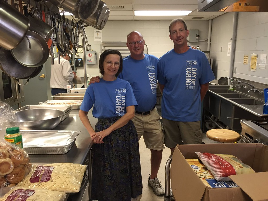 . K-J Fasteners serves lunch at The Salvation Army