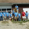 Boy Scout and Huntington Bank volunteers at Camp Sigwandish in Madison