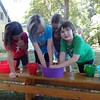 Courtesy Mentor Public Library | One of the teams used the Brussel sprout water to thaw its frozen T-shirt during the final challenge at Mentor Public Library.
