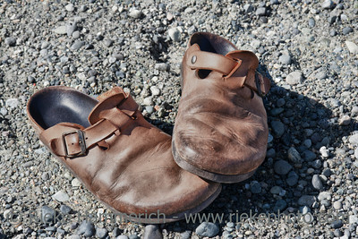 Old Clogs on the Rocks – Saanichton, Vancouver Island, British Columbia, Canada