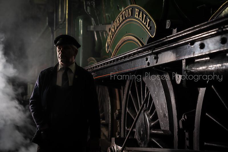 Steam Engine Portrait Colour