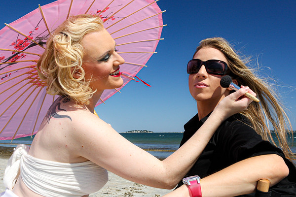 Meredith Mangum and Joanna Berkan - Revere Beach Pinup (September 2008)