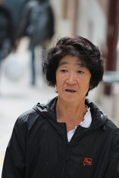 Old Asian Lady with Groovy Hair Cut, Macau