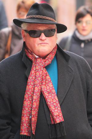 Italy, Verona, Large Middle Aged Man Walking