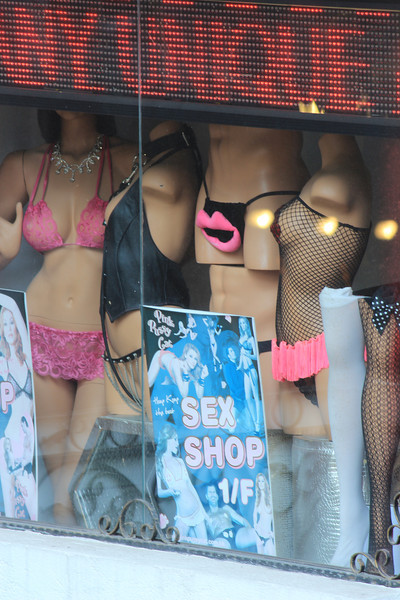 Seedy little Sex Shop, Kowloon, Hong Kong