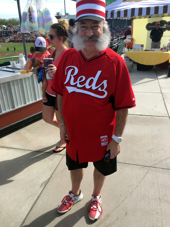 . Mark Meszoros -- The News-Herald This man was doing a Reds� spring training game in style.