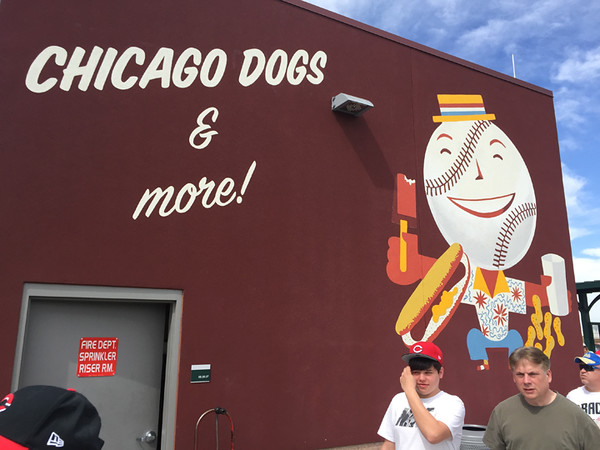 . Mark Meszoros -- The News-Herald At Sloan Park, home of the Cubs, fans can eat like they�re in the Windy City.