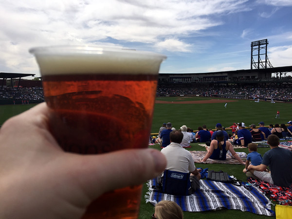. Mark Meszoros -- The News-Herald You�d better believe Chicago�s Goose Island beers are on tap at Sloan Park, the spring training home of the Cubs in Mesa, Arizona.