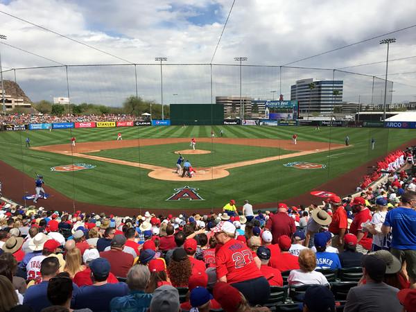 . Mark Meszoros -- The News-Herald The Los Angeles Angels play their Cactus League games at Tempe Diablo Stadium in Tempe, Arizona.