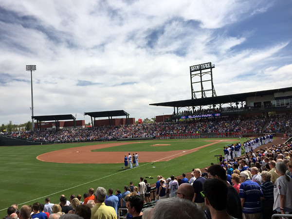. Mark Meszoros -- The News-Herald Sloan Park was pretty packed for a Cubs game on a lovely, if hot, March Saturday afternoon in Mesa, Arizona.