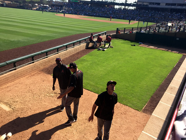 . Mark Meszoros -- The News-Herald It�s not hard to get the attention of the players in this bullpen at Salt River Fields at Talking Stick in Scottsdale, Arizona.