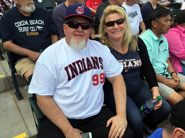 . Mark Meszoros -- The News-Herald These Tribe fans didn�t care that it was the Reds, not the Indians, playing on this day at Goodyear Ballpark.