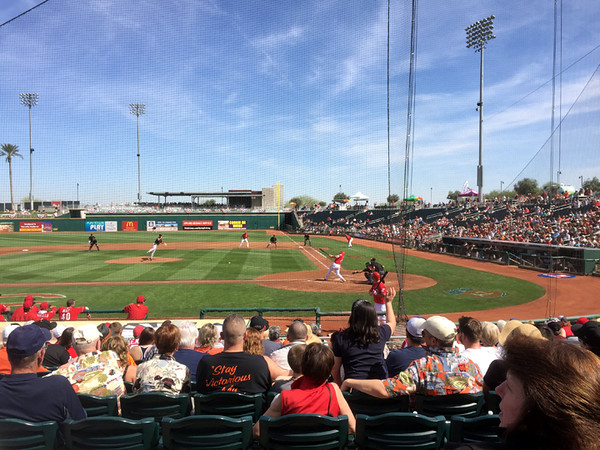 . Mark Meszoros -- The News-Herald Here�s some game action from Goodyear Ballpark in Goodyear, Arizona, the Cactus League home of the Cleveland Indians and Cincinnati Reds.