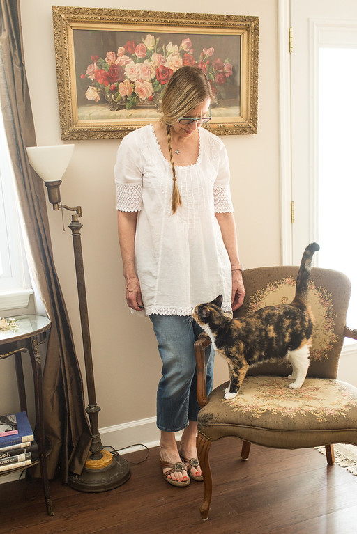 G. Designs Natural Fashions top with Calvin Klein jeans | Fashion Over 50