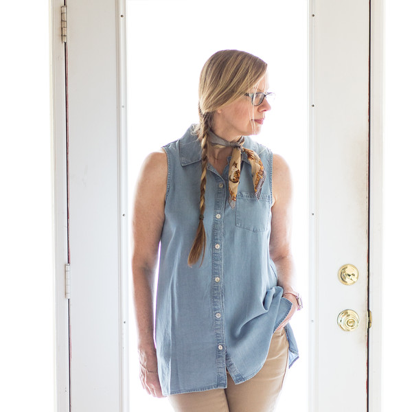 T & W Designs shirt, DKNY Jeans Fashion over 50