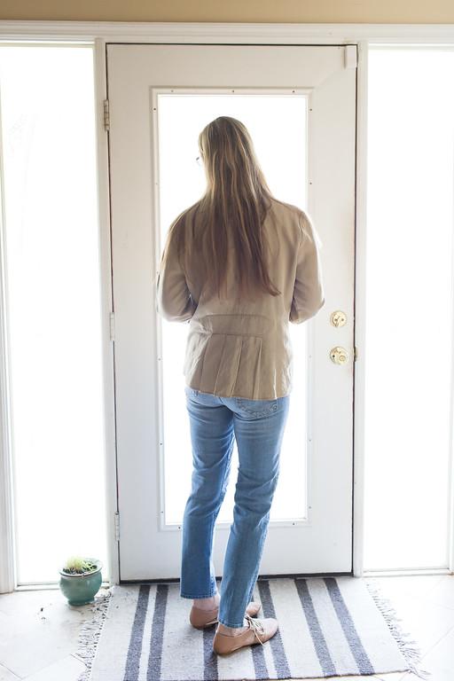 Lightweight spring linen jacket