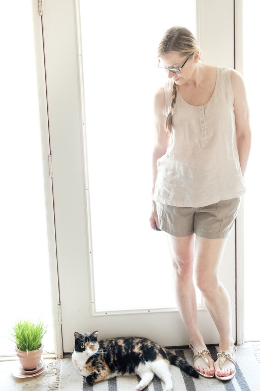 Linen top and shorts for Fashion Over 50