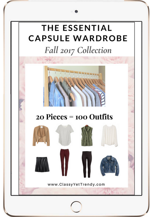 Essential Capsule Wardrobe Fall 2017