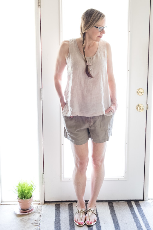 Summer Living in Linen - Jones of New York Linen Top with Cato Linen Shorts