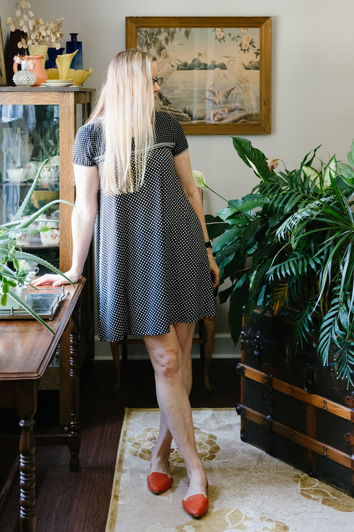 Little Black Polka Dot dress from Max Edition from Steinmart with Restricted flats