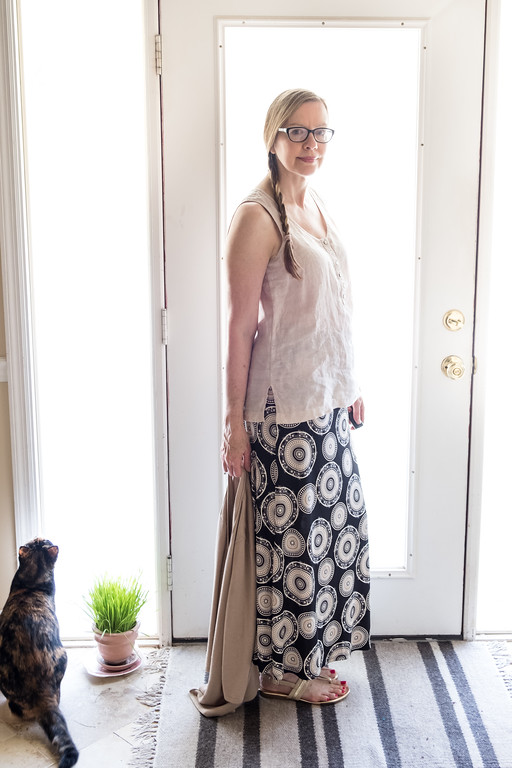 Capsule Wardrobe black maxi skirt for Fashion Over 50