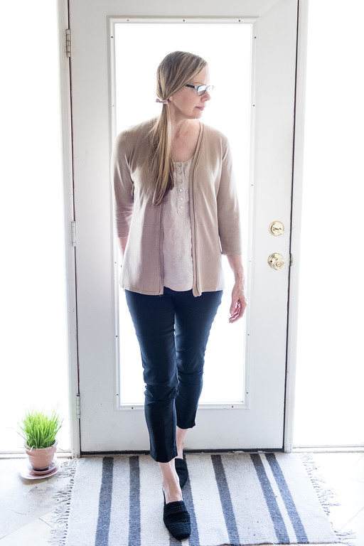 Using neutrals beige and black for fashion over 50