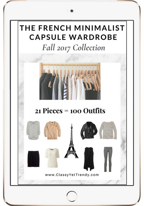 French Minimalist Capsule Wardrobe Fall 2017
