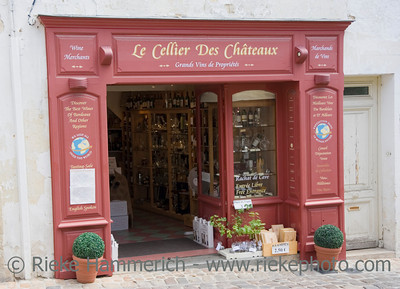red wine store - saint-emilion, famous wine village in france - adobe RGB