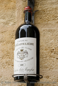 6 liter bottle imperial with a famous wine - saint-emilion, france - adobe RGB