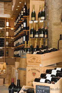 wine store interior - saint-emilion, france - adobe RGB