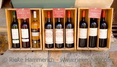 wine for sale - saint-emilion, france - adobe RGB